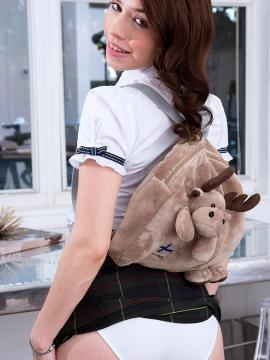 Hot schoolgirl Lucie Cline strips out of her uniform for you