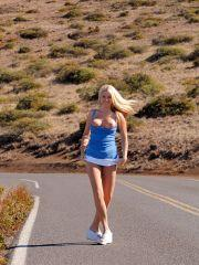 Pics of Alison Angel exposing herself outside