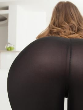 ass pants bent-over brunette