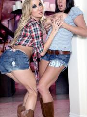 Pictures of Amy Brooke and Brandy Talore getting it on country sytle