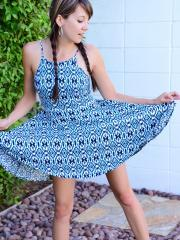 Teen hottie Andi Land shows you what's under her dress