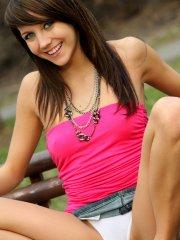 Pictures of teen star Andi flashing outside