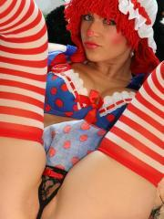 Ann Angel dresses up as Raggedy Ann and invites you to play