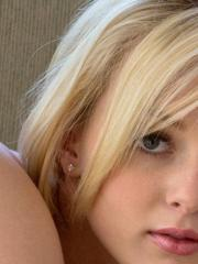 Blonde teen Kenze Thomas strips naked and gives you her tight pussy