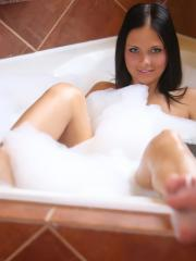 Bailey Knox invites you to take a steamy hot bath with her