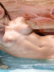 Celeste Star gets naked and wet for you in the pool