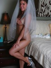 Pictures of Blueyed Cass craving you on her wedding night