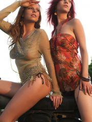 Pictures of two gorgeous teen girls exposing their bodies