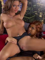 Briana Lee invites Salina Ford over so she can fuck her with a strapon