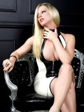 Britney Lace gets naughty in latex dress