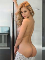 Blonde babe Candice Brielle gets naughty in the kitchen
