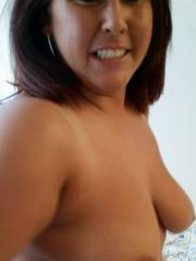 Chubby ex-girlfriend strips naked and uses a vibe on her wet pussy
