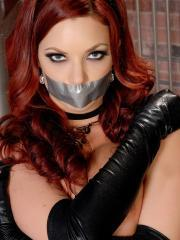 Redhead babe Jayden Cole is bound and waiting for you