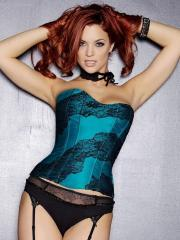 Pictures of redhead hottie Jayden Cole showing off in a sexy corset