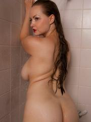 Busty girl Natasha Dedov wants to take a shower with you