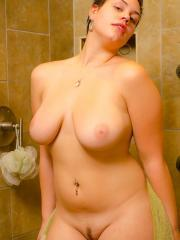 Curvy girl Annalise invites you to take a hot steamy shower with her