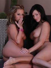 Melissa and Destiny were lounging poolside when things got a little crazy