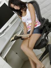 Destiny Moody gets horny while reading a good book