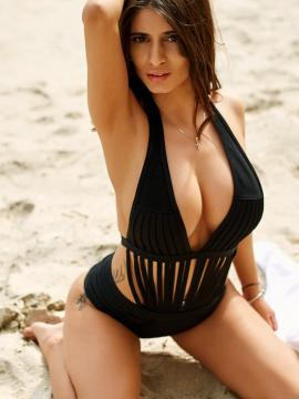 Devious Angel In Swimsuits on Beach