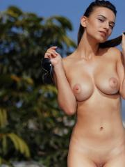 "Beautiful girl Gloria Sol poses nude for you outside in ""LICK ME"""