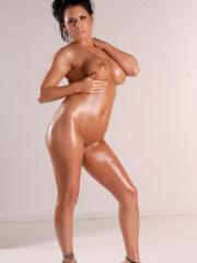Pitures of Eva Angelina all shiny and naked just for you