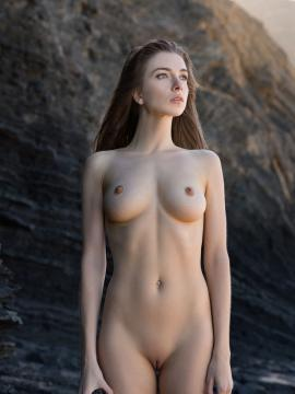 Mariposa nude on the rocks in Save Me