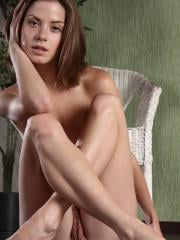 Pictures of Danica having some nude fun on the floor