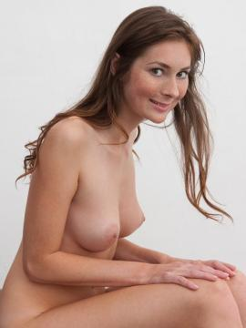 Pictures of brunette beauty Katie G totally nude just for you