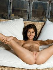 Pictures of the adorable Laila totally nude and spreading for you