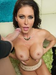 Busty brunette Jessica Jaymes gives some hot pov sex