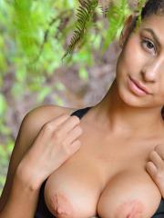 """Hot girls Nina North and Kristen Scott pleasure each other in the forest in """"Secret Kailua Trail"""""""