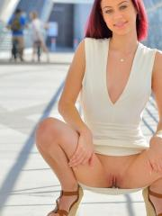 """Dani shows you what's up her dress in """"What A Sexy Model"""""""