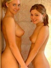 Pictures of Jayme Langford and Alison Angel showering together