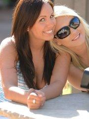 Pictures of Leanna hanging out with Alison Angel