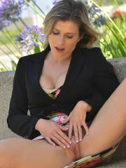 """Blonde MILF Cory Chase masturbates for you in """"Business Time"""""""