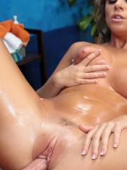 Hot girl Alexis Adams gets seduced and fucked hard by her massage therapist