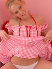 Pretty teen Gotta Love Lucky plays dressup for you