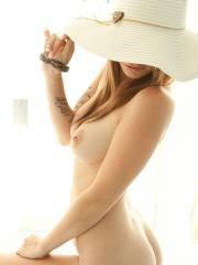 Beautiful girl Hailey Leigh strips for you in a pretty sun hat