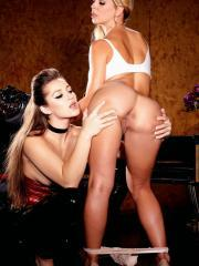 Cherie Deville and Dani Daniels dominate each other in a festish set