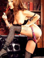 Pictures of Jenna Haze being a naughty schoolgirl with her friends