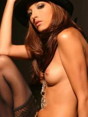Pictures of Jenna Haze posing in black stockings