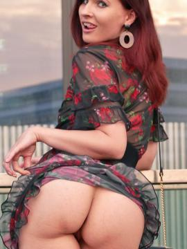 Jeny Smith shows you up her dress