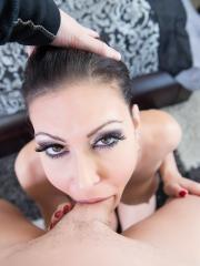 Busty hottie Jessica Jaymes gets fucked pov in bed