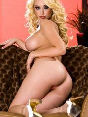 Pictures of Kagney Linn Karter stripping for you on the couch