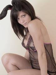 Karen Dreams dresses as your fuck bunny and waits for you in a basket