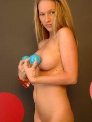 Pictures of Kate's Playground playing with balls