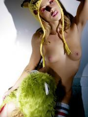 Pictures of Brooklyn Lee And Kayden Kross having fun with their favorite puppet hats
