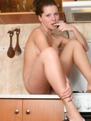 Pictures of Kimmy Teen being your private nudist chef
