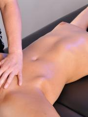 Blonde beauty Sonia gets a hot massage