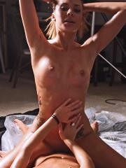 Horny girls Danica and Layla get naughty with the body-paint
